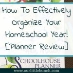 How to effectively organize your homeschool year! [Planner Review]
