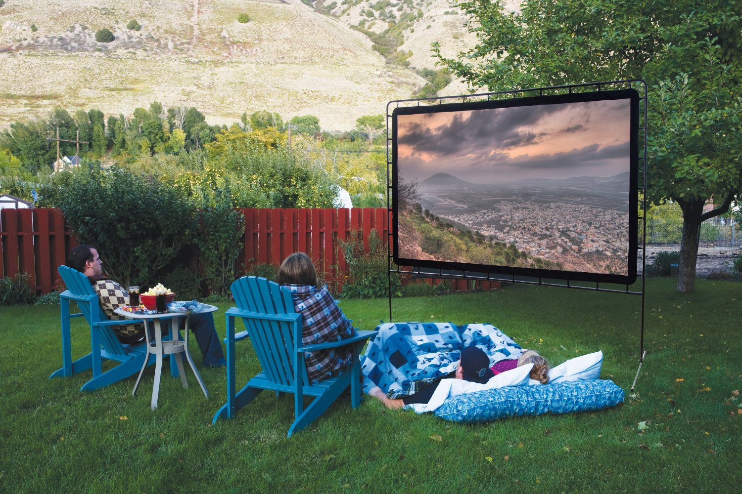Outside Movie Projector Screen