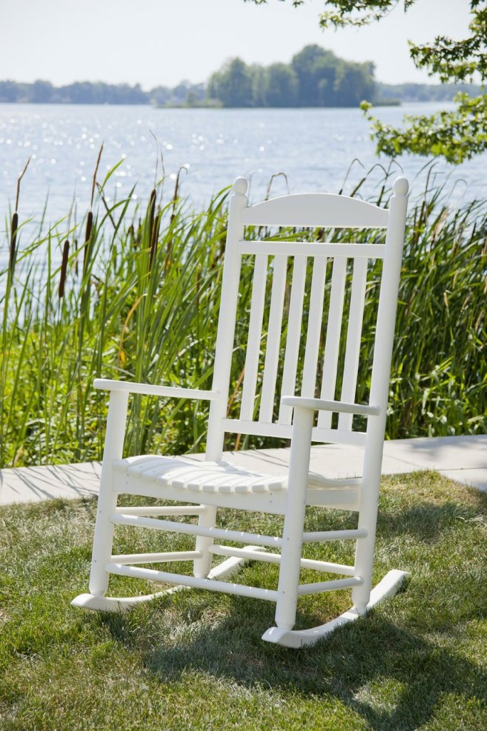 White Rocker Chairs Made Of Polywood Recycled Wood