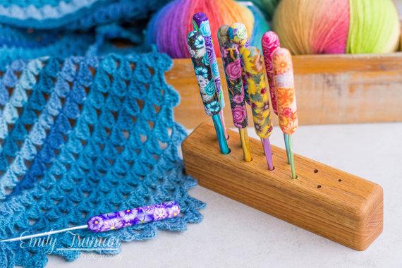 Wooden Crochet Hook Stand