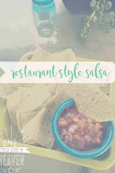 restaurant style salsa recipe cover