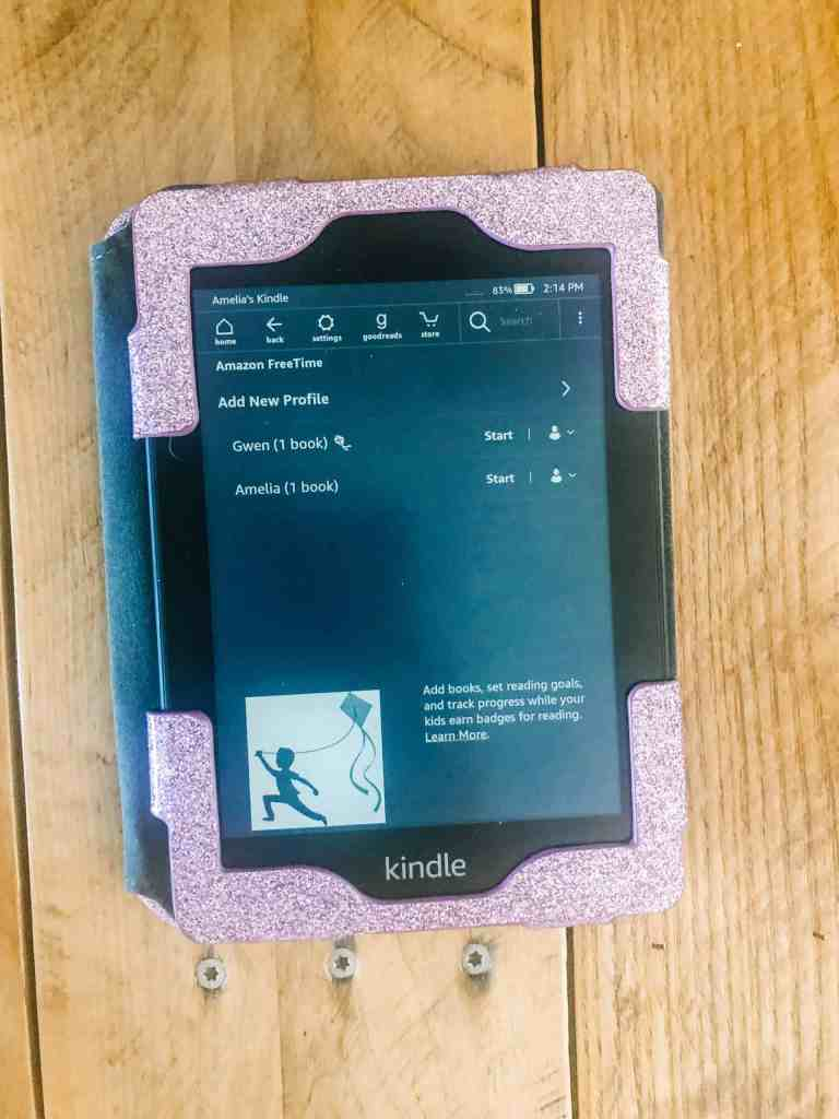 Library card with Kindle Paperwhite