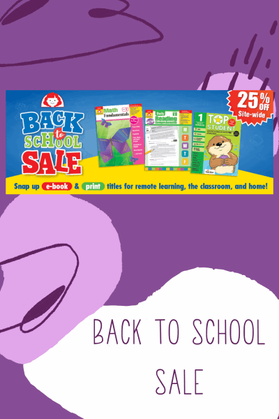 Evan-Moor Back to School Sale