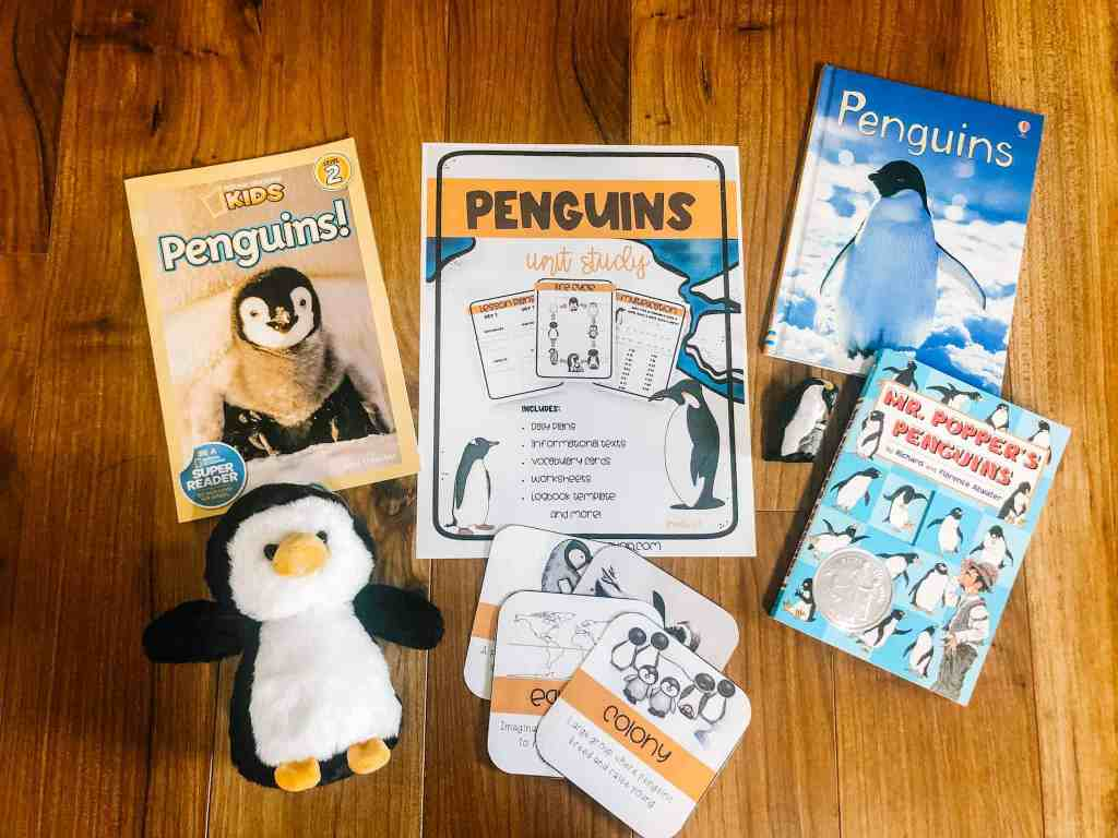 Penguin unit study supplies