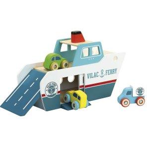 vilac færge med biler og lastbil båd our little toyshop