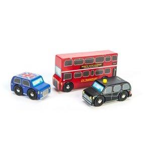 lille London bilsæt - 3 biler - bus - politibil