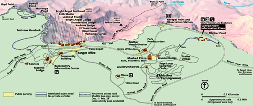 Sections show more follow today i've flown over it, hiked around it, climbed down it and ridden through it, and it never ce. Our National Parks Grand Canyon Village South Rim Map