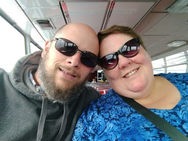 Jason and Barb on the Ferry