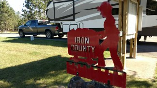 Lunch at the Iron County MI Rest Area
