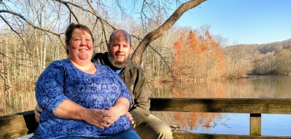 Barb & Jason at City Lake Natural Area, Cookeville, TN