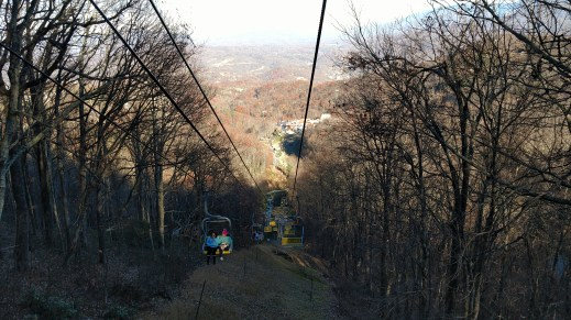 Ober Gatlinburg Scenic Chair Lift view over Gatlinburg, TN, in the distance from 3,500 feet