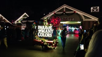 Opening float of Parade of Many Colors at Dollywood