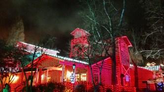 Brilliant Christmas lights at Dollywood