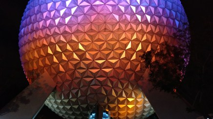 Spaceship Earth at Epcot Center