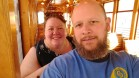 Barb & Jason on the Ybor Trolley, December 2017