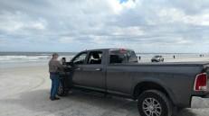 Bruce taking pictures at Daytona Beach