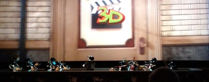 Animatronic penguins play from the orchestra pit at the Muppet 3D show. Barb's new favorite!