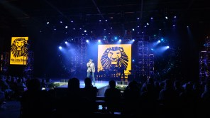 Alton Fitzgerald White in Disney on Broadway Concert Series at Epcot Center, February 5, 2018 singing music from the Lion King and other broadway Disney music