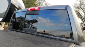 After being repaired by SafeLite of Orlando, 2015 RAM 3500 Rear Window, February 10, 2018