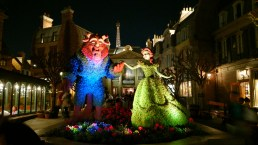 Beast and Beauty at French Pavilion during the Epcot Flower and Garden Festival