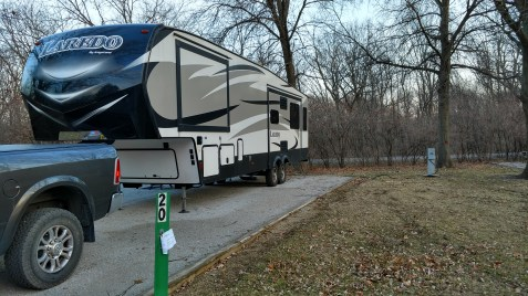 Site 20 at Yellow Banks Campground 1, Des Moines, IA