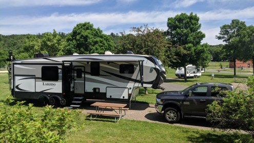 At Hoffman Park, our 5th wheel before the 2nd air conditioner added