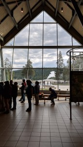 Visitor center at Old Faithful in Yellowstone National Park