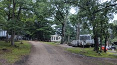 Typical loop at the Arrowhead RV Campground lined with seasonals