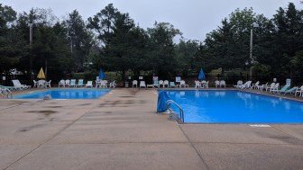 """The campground has two pools, one for diving (over 9' deep) and another more relaxing from 2'6"""" to 5'6"""" in depth, nice and warm"""