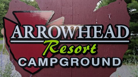 Entry to the Arrowhead Resort Campground