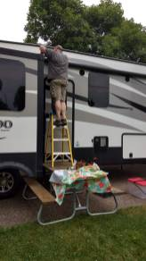 Repairs are necessary and sometimes just easier to do yourself instead of trying to find an RV repair shop