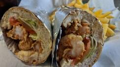 Shrimp po-boy at at Westbank Grill, Westwego, LA