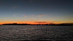 Sunset with http://bayoubadboysbowfishing.com/ in the bayou outside of Lafitte, LA