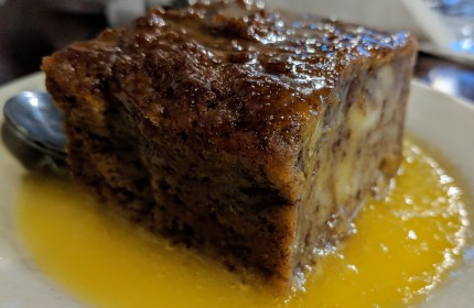 "In the ""under the hill"" district, Magnolia Grill and their dense whiskey butter covered bread pudding"
