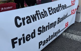 Festival food served at New Roads Louisiana have a different flavor from The Little Old Church ladies.