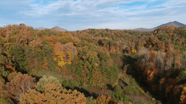 The colors of the smoky mountains to the Southeast of Pigeon Forge