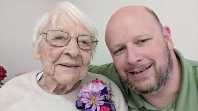 Verna and Jason - Verna's 100th Birthday, February 23, 2019