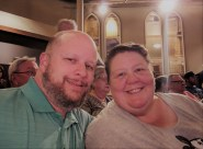 Jason & Barb at the Ryman Auditorium during intermission fo the Grand Ole Opry Classics performance