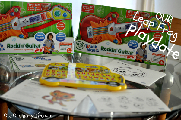Our LeapFrog Touch Magic Playdate