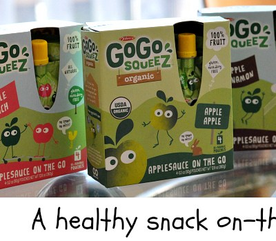 Healthy Snacks On-The-Go With GoGo squeeZ