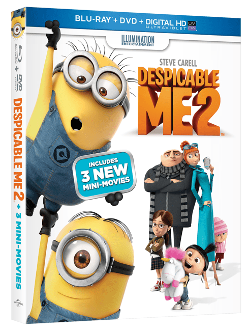 Despicable Me 2 Is Here On Blu-Ray 3D!