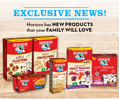 Exclusive News From Horizon Organic – Great Snacks For Kids #MealtimeSolutions