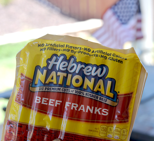 Hebrew National Beef Franks stock image