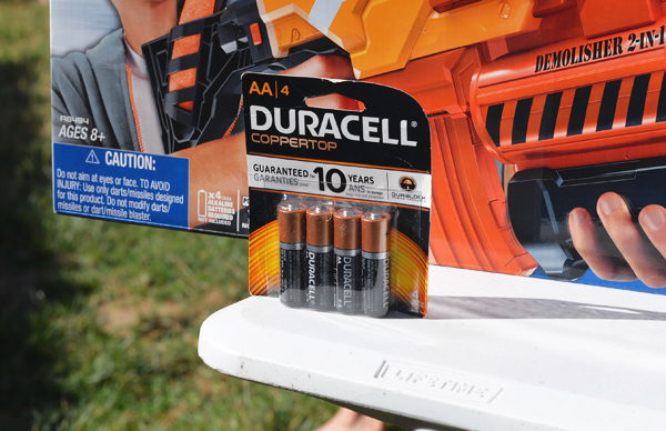 Toys R Us Nerf Machine Gun Duracell Battery