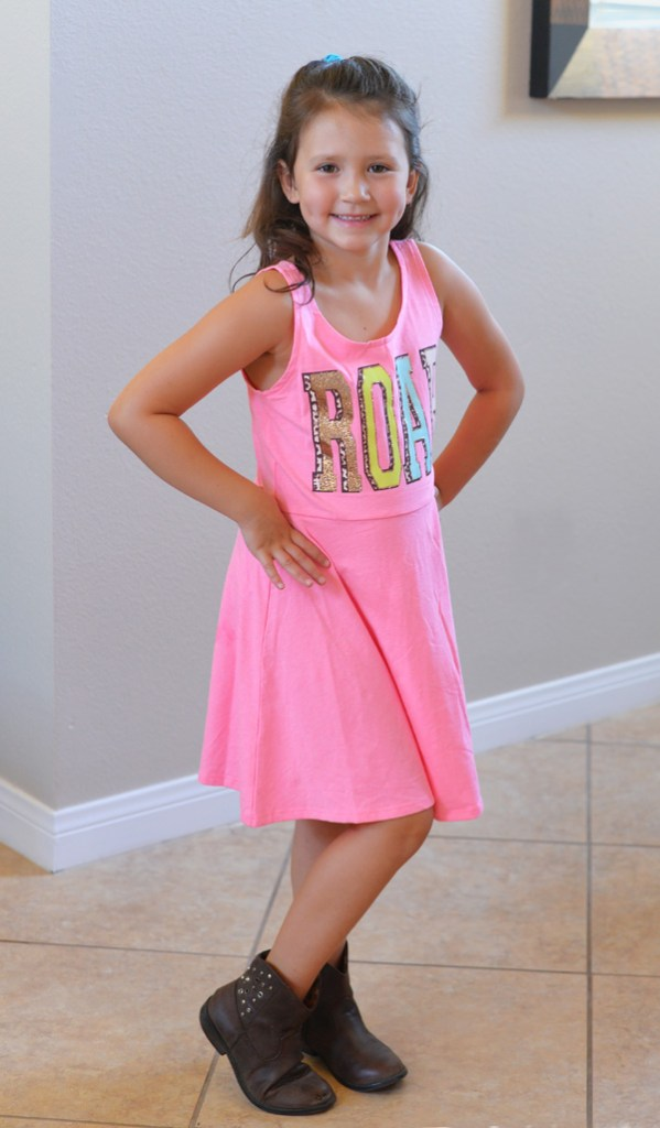 Kmart back to school kids clothes girls pink dress roar