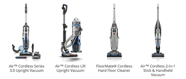 4 Hoover Cordless Vacuums