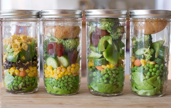 veggie jar salad