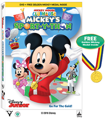 mickeys sport-y-thon dvd gold medal included
