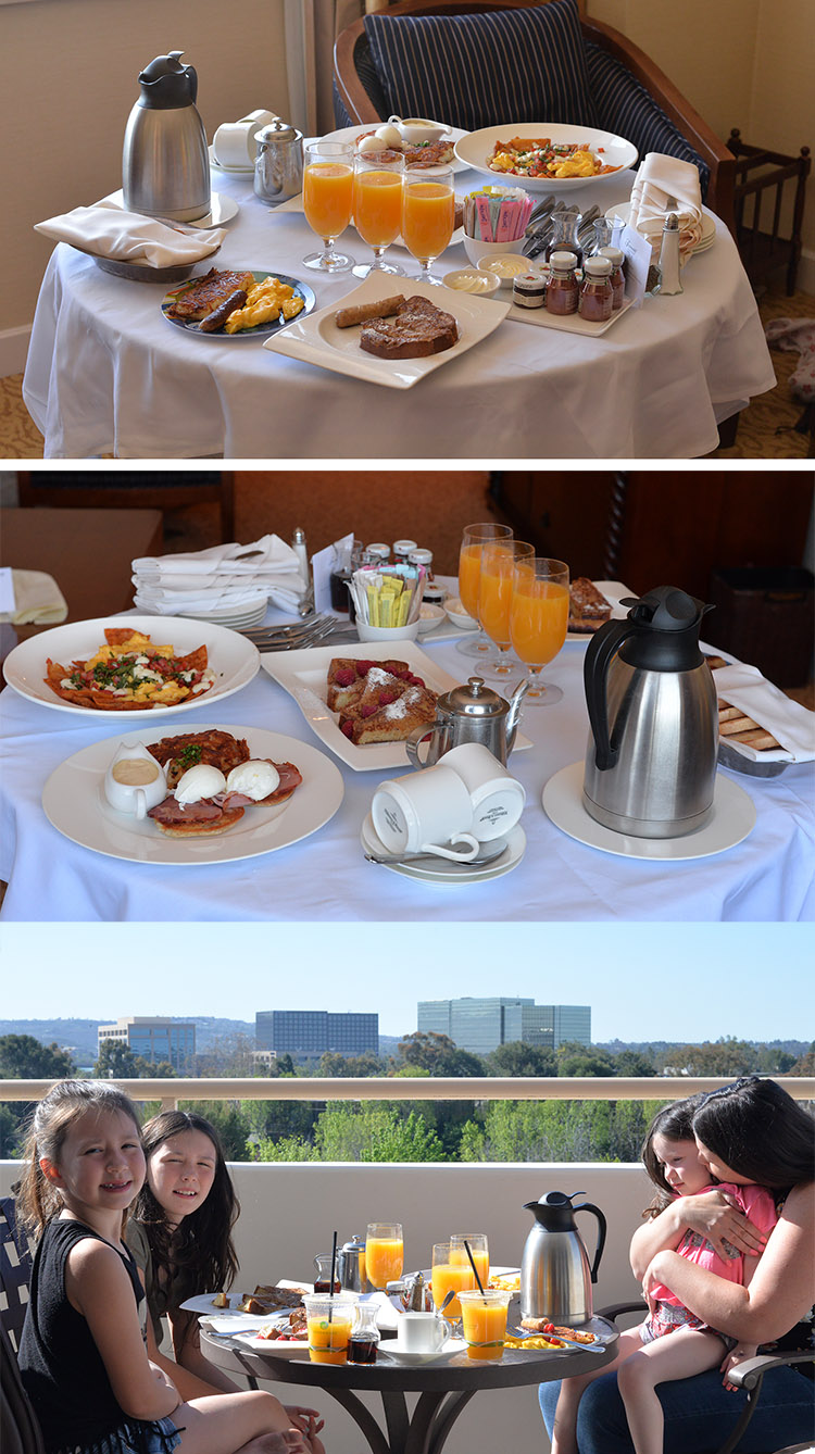 Fairmont Hotel Newport Beach room service breakfast