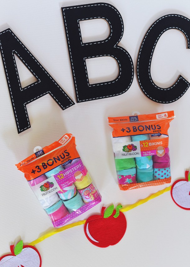 Fruit of the Loom back to school
